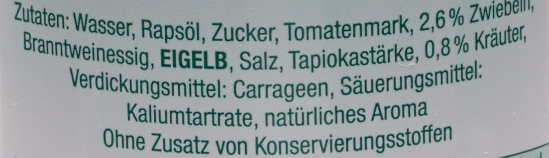 American Salatsauce, Aus dem Hause der Sylter Sala... - Ingredienti - de