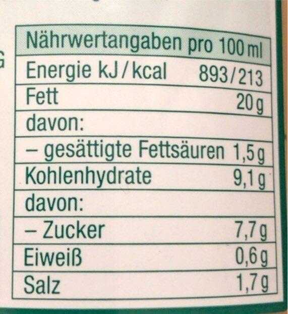 American Salatsauce, Aus dem Hause der Sylter Sala... - Valori nutrizionali - de