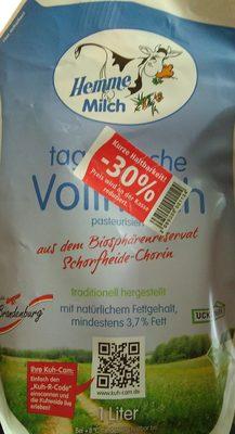 tagfrische Vollmilch - Produkt