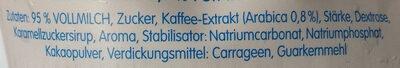 Eiskaffe - Zutaten - de