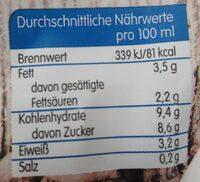 Eiskaffe - Nährwertangaben - de