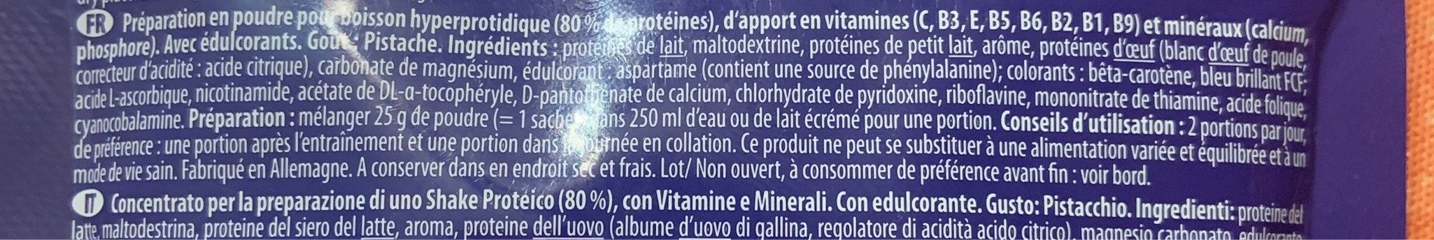 Pro 80 - Ingrédients - fr