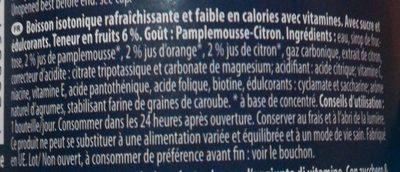 Iso-drink - Ingredients