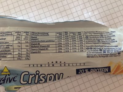 Active Crispy , Vanille White Chocolate - Informations nutritionnelles - fr
