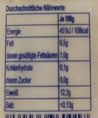 Tofu - Valori nutrizionali - en