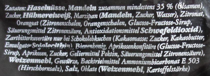 Elisen-Lebkuchen - Ingrediënten - de