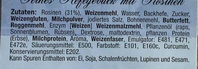 Rosinen Brötchen - Ingrédients