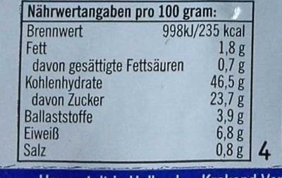 Rosinen Brötchen - Informations nutritionnelles