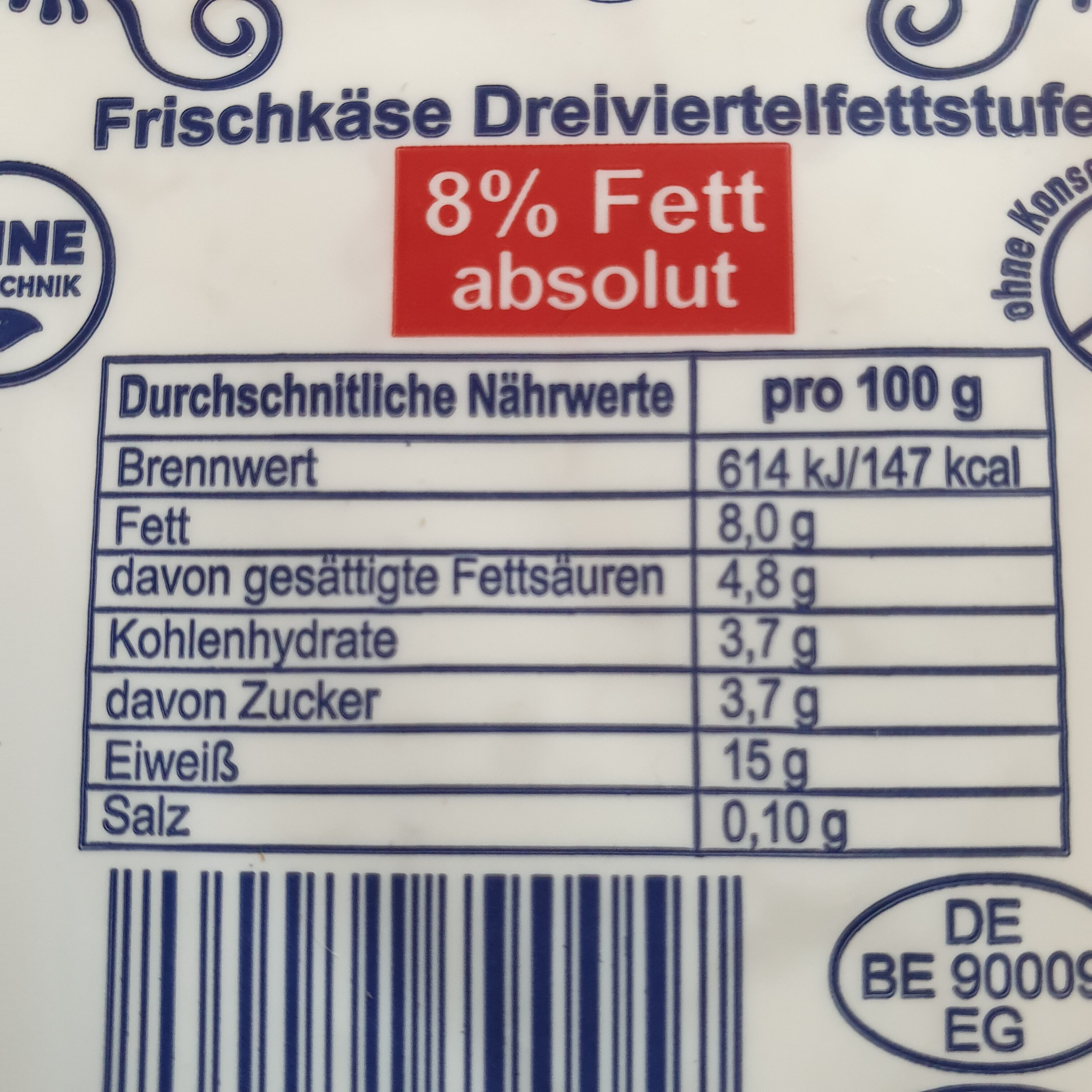 Quark nach russischer Art - Nutrition facts