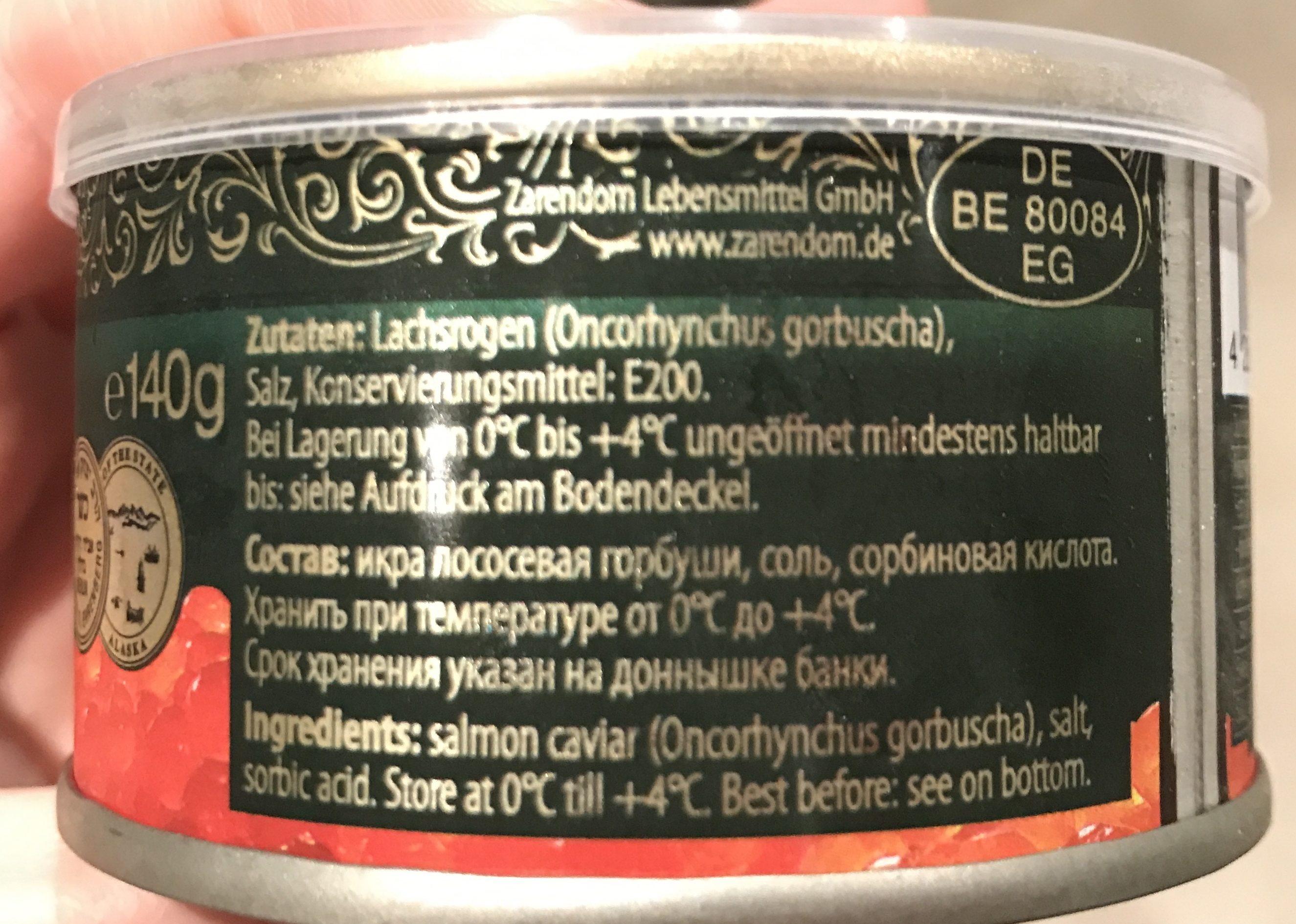 Zarendom - Red Caviar In Can - Produit - fr