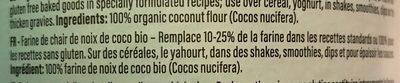 Farine de noix de coco - Ingrédients - fr