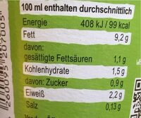 Bio Soja Kochcreme - Nutrition facts - de