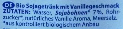 Bio Vanille - Inhaltsstoffe