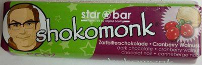 Zartbitterschokolade Cranberry Walnuss - Produkt