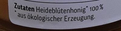 Deutscher Heideblüten Honig Bio - Ingredients
