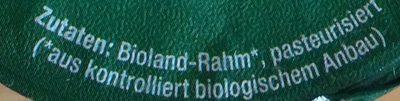 Bio-Schlagsahne - Ingrediënten