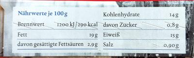 Lachs Fischstäbchen - Informations nutritionnelles - de