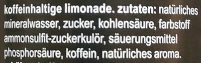fritz-kola - Ingredienti - de
