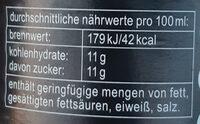Fritz-Kola - Informations nutritionnelles - de