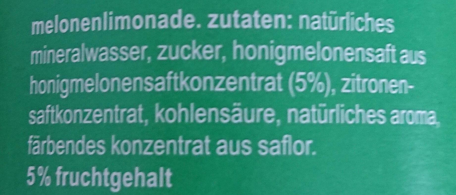 fritz-limo Melonenlimonade - Ingredients - de