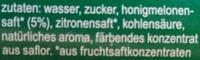 fritz-limo Melonenlimonade - Inhaltsstoffe