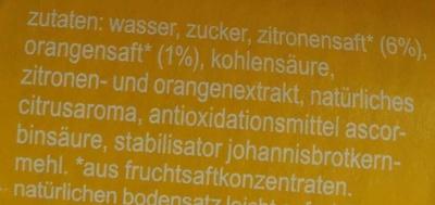 Fritz-limo Zitrone - Inhaltsstoffe