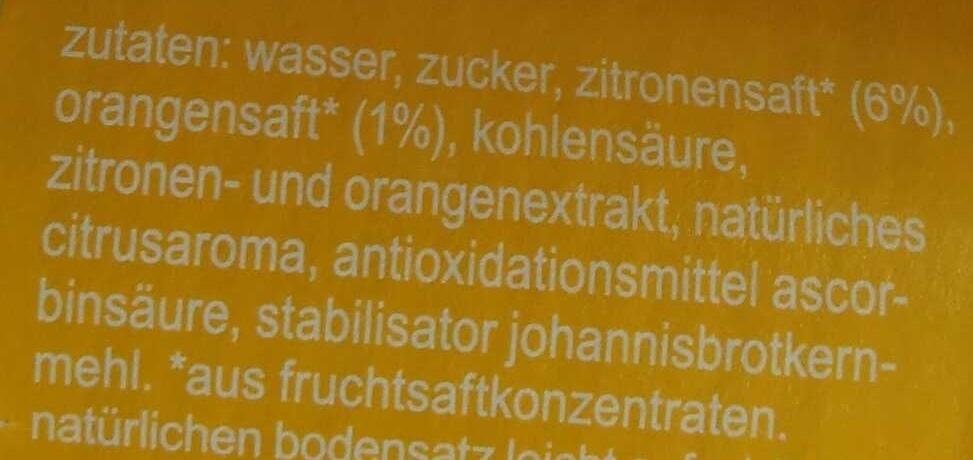 fritz-limo Zitrone - Ingrediënten - de