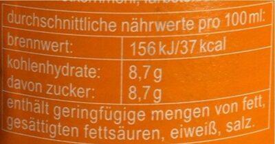 Orange - Nutrition facts - de