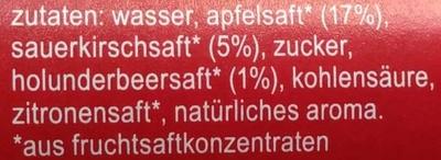 fritz-limo Apfel-Kirsch-Holunder-Limonade - Ingredients - de