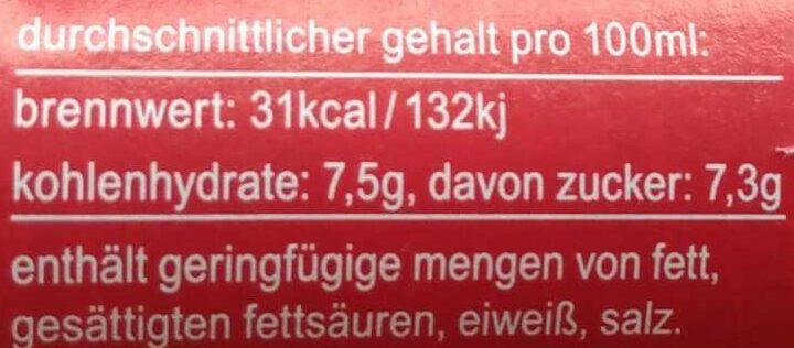 fritz-limo Apfel-Kirsch-Holunder-Limonade - Nutrition facts - de
