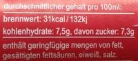 fritz-limo Apfel-Kirsch-Holunder-Limonade - Informations nutritionnelles - de