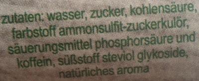 fritz-kola Stevia - Ingrédients