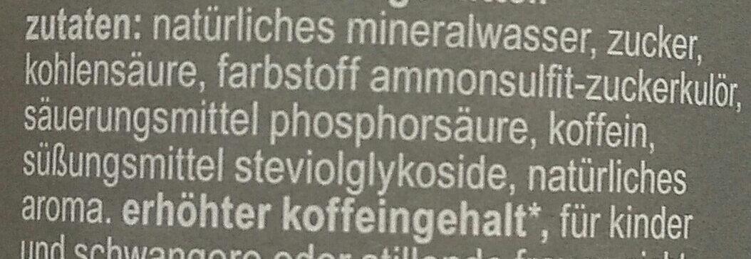 fritz-kola weniger Zucker - Ingredients