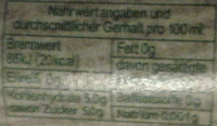fritz-kola Stevia - Informations nutritionnelles