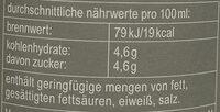 fritz-kola weniger Zucker - Nutrition facts