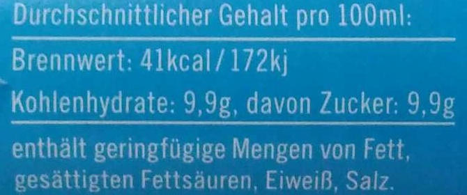Mischmasch - Informations nutritionnelles