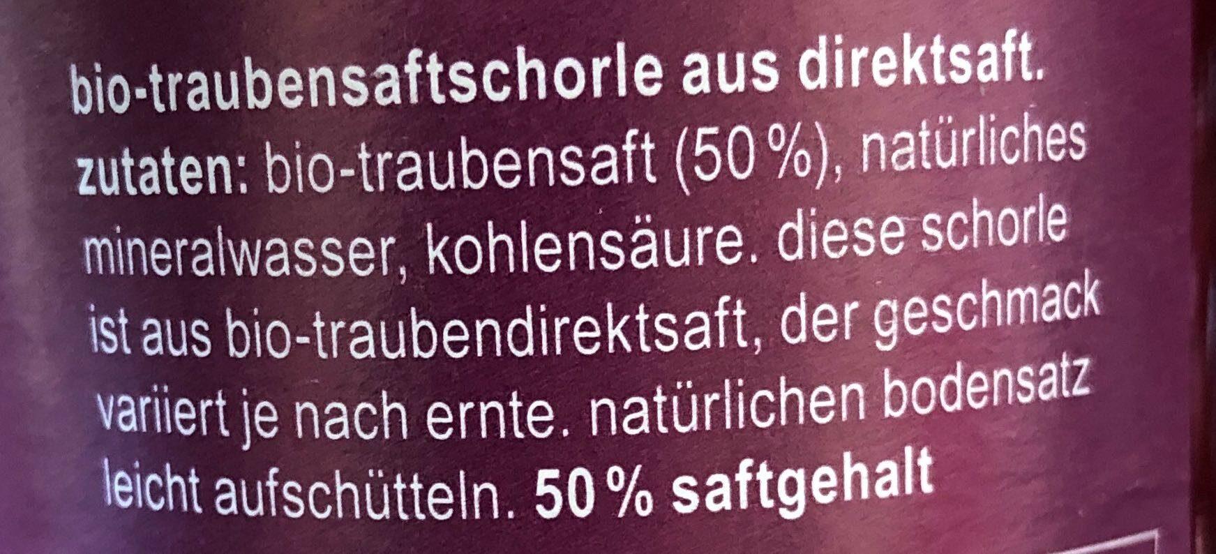 Traubensaftschorle - Ingredienti - de