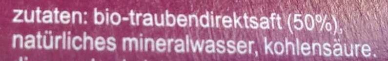 Fritz-spritz Traubensaftschorle - Inhaltsstoffe