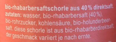 Bio-Rhabarbersaftschorle - Ingredienti - de