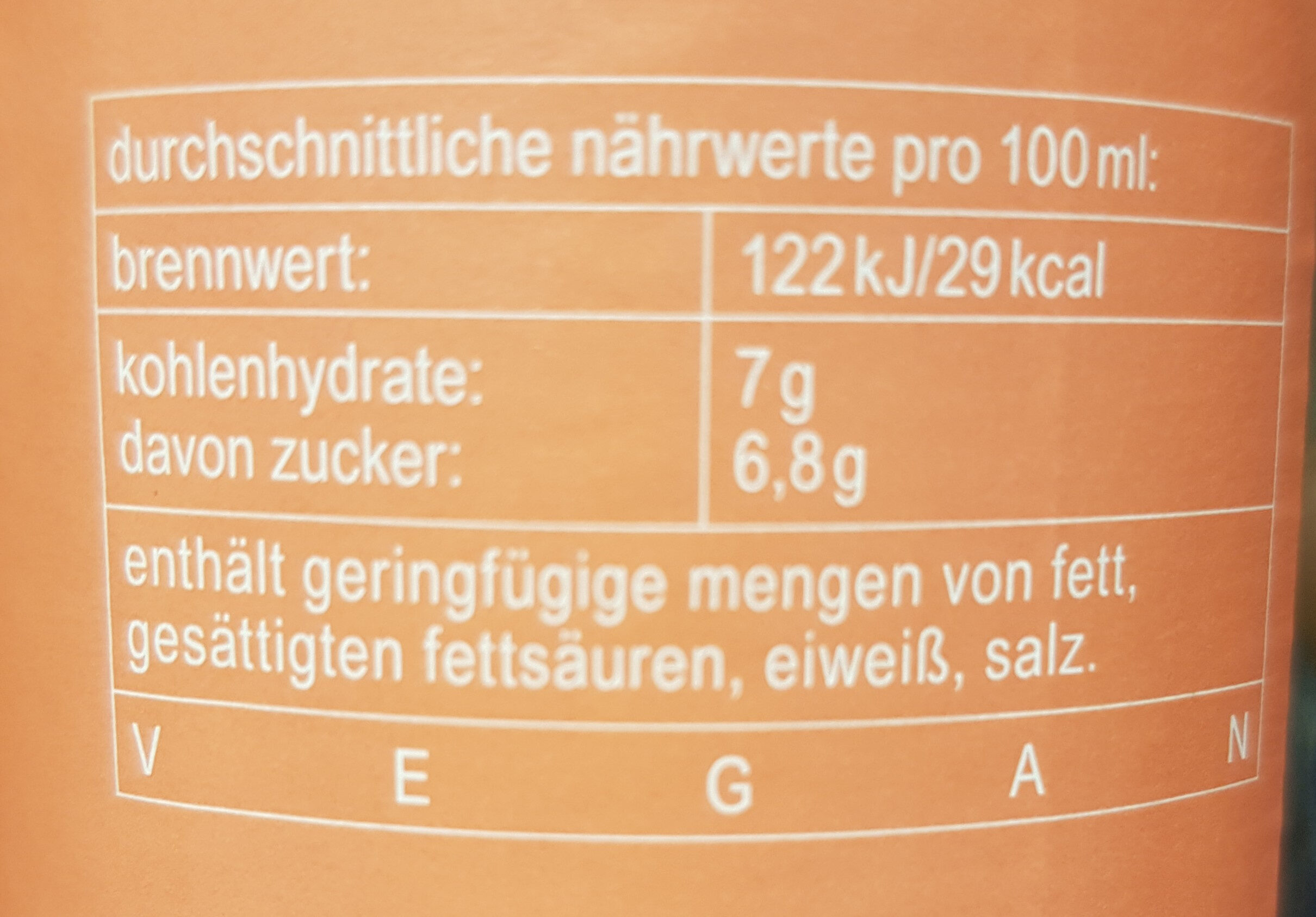 fritz-spritz Bio-Rhabarbersaftschorle - Informations nutritionnelles - de