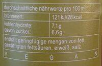 fritz-spritz - Nutrition facts - de