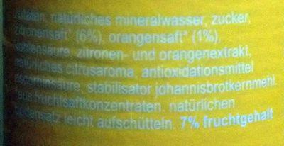Fritz-limo Zitrone - Zutaten - de
