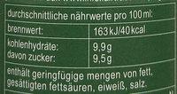 Grün & Gerecht - Nährwertangaben