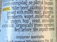 German-Hirse-Premium - Ingredients