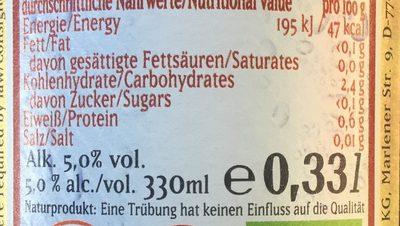 German-hirse-premium - Nutrition facts - fr