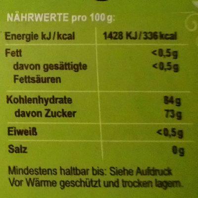 Fruttibio Bio-Fruchtgummi Cola-Fläschchen - Nutrition facts