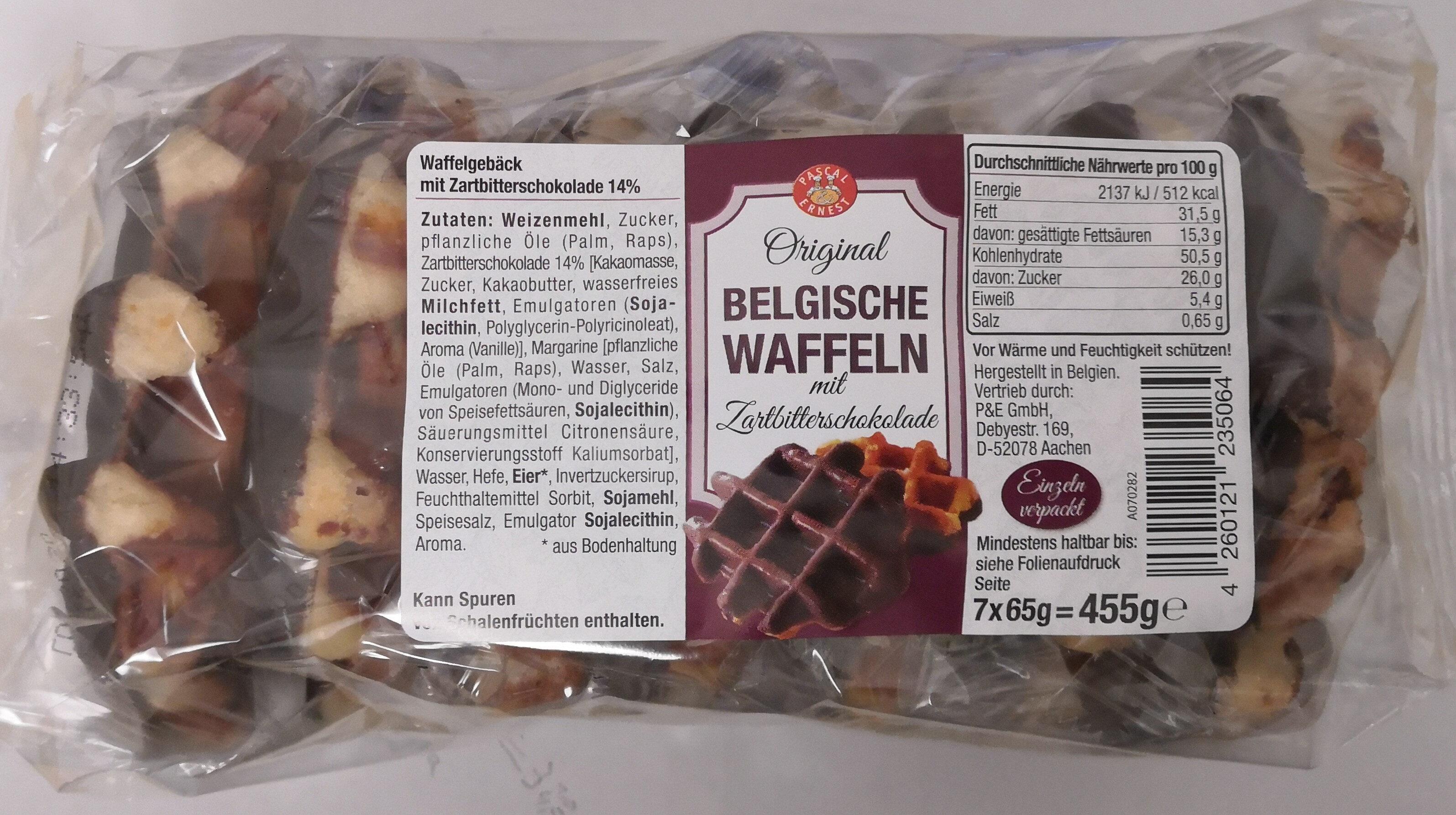 Pascal & Ernest Belgische Waffeln mit Zartbitterschokolade - Produkt