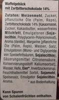 Pascal & Ernest Belgische Waffeln mit Zartbitterschokolade - Inhaltsstoffe