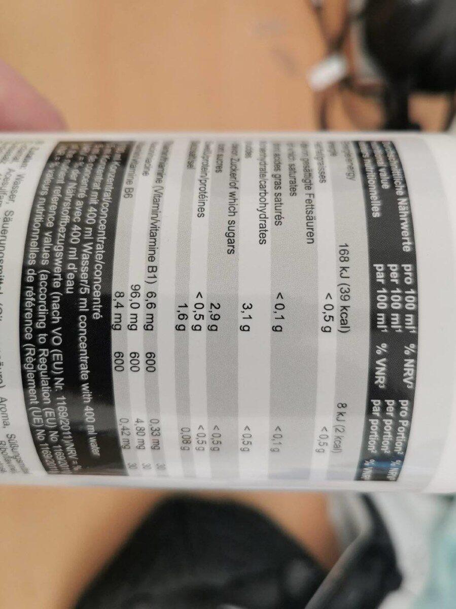 Vital drink - Nährwertangaben - de