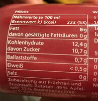 True Fruits, Pink Smoothie - Nutrition facts - fr